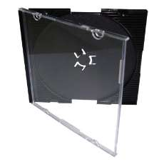 Cx. acrílica mini cd/dvd cdcard - R$ 0,44
