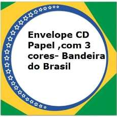 Envelope de cd papel Brasil - R$ 5,50
