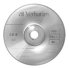 Cd-r verbatim 700mb 80min - R$ 0,59