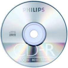 Cd-r 700mb 52x 80min Philips - R$ 0,71
