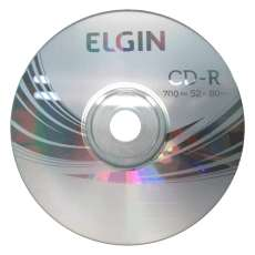 Cd-r Elgin 700mb 52x 80min  - R$ 0,54