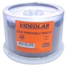 Cd-r printable brilho superficie prata Videolar 80MIN/700MB/52X