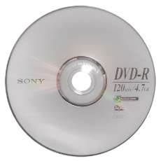 Dvd-r 4,7gb 16x 120min Sony - R$ 0,92