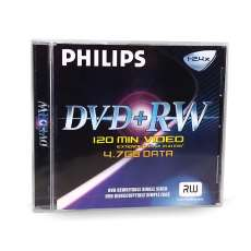 Dvd+rw philips 4.7gb 120min 2.4x - R$ 2,79