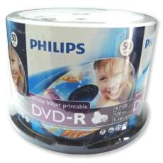 Dvd-r printable 4,7gb 16x philips - R$ 0,99