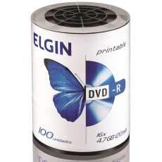 Dvd-r Elgin printable 4,7gb 16x - R$ 0,81