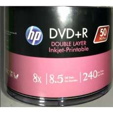 Dvd+r dual layer 8,5gb 8x hp - R$ 2,00