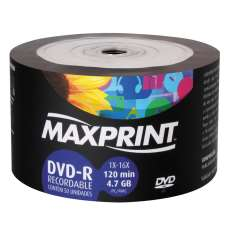 Dvd-r 4,7gb 16x 120min maxprint - R$ 0,82
