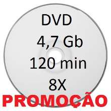 Dvd-r superficie Branca  4.7 gb / 120 min 8x