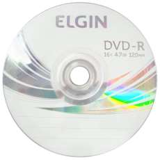 Dvd-r 4,7gb 16x 120min elgin - R$ 0,56
