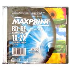 Bd-re blu-ray regrav 25gb maxprint - R$ 8,85