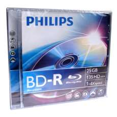 Bd-r blu-ray 25gb 4x philips - R$ 10,10
