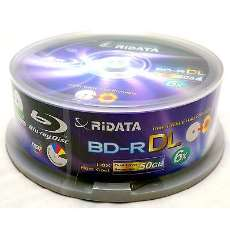 Blu Ray BD-R DL 50Gb Ridata 6X - R$ 10,90