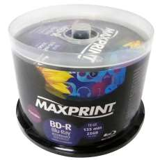 BD-R 25GB 6X Printable Maxprint - R$ 2,29