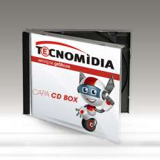 Encarte para CD Box 120x120mm 4x4 - R$ 0,07