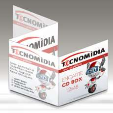 Encarte para CD Box 120x480mm 4x4 - R$ 0,22