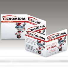 Encarte para CD Box 120x600mm 4x4 - R$ 0,28