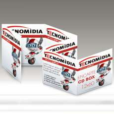 Encarte para CD Box 120x720mm 4x4 - R$ 0,26