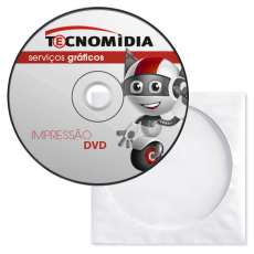 DVD virgem silk 2cor envelope papel - R$ 0,94