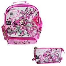 Mochila Rock and Roll com Estojo - R$ 76,50