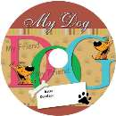 Etiqueta PET cd dvd offset my dog  - R$ 8,99