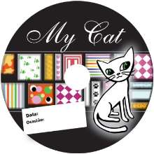 Etiqueta PET GATOS brilhante my cat  para cd/dvd