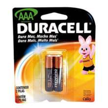 Pilha palito Duracell alcalina AAA 3A blister com 2 pilhas