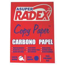 Papel Carbono Azul A4 - 210X297 - Radex