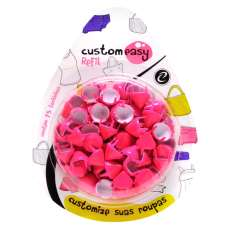 ENFEITES SPIKE 9MM PINK FLUOR - R$ 12,50