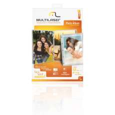 KIT PHOTO ALBUM 12 A4 folhas 180gr - R$ 14,19
