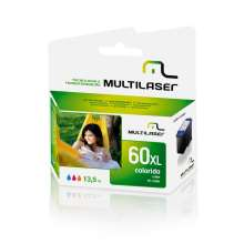 Cartucho Multilaser compativel  HP 60 Color   CO60C HP