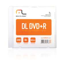 Dvd dual layer 8,5 gb 8x - R$ 5,16