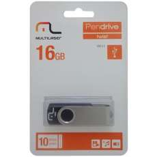 Pen Drive Preto 16gb PD588 - R$ 35,15