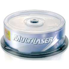 DVD+R Dual Layer Multilaser 8.5GB ( - R$ 23,86