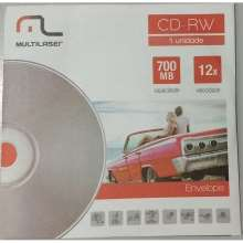 CD-RW Vel. 12X 700 MB - Multilaser CD053 25 com envelope CD