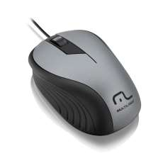 Mouse USB Emborrachado - Multilaser - R$ 26,53