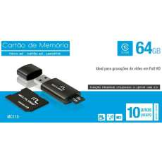 Kit 3x1 64GB Pen Drive Micro SD  - R$ 146,04