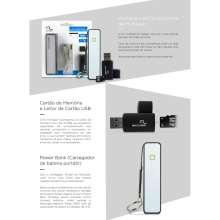 Kit Smartphone 8gb MicroSD Pendrive Power Bank