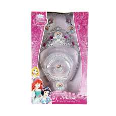 Kit Princesas Disney tiara e jóias  - R$ 17,44