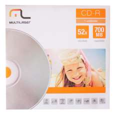 CD-R 700 MB 80 minutos 52X Multilas - R$ 1,25