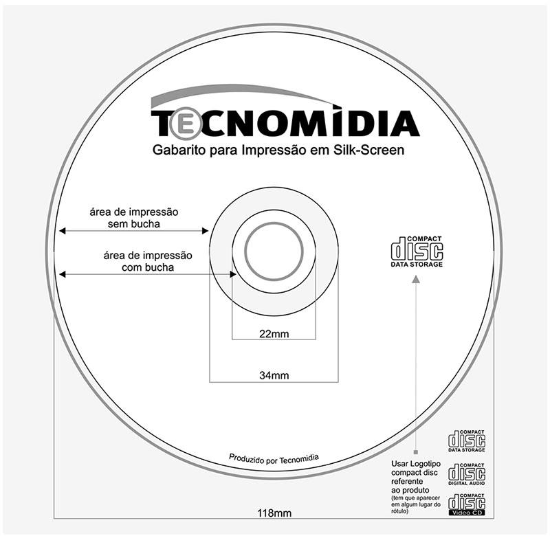 Serviços De Impressão Mídia 2 Cores Cd Ou Dvd Silk Screen