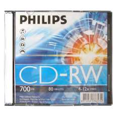 Cd-rw philips 12x slim  - R$ 2,42