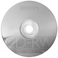 Cd-rw philips 700mb 12x - R$ 2,09