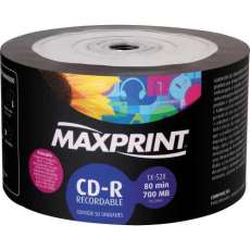 Cd-r 700mb 52x 80min maxprint - R$ 0,85