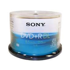 Dvd DL 8.5GB Sony Printable 215min  - R$ 3,60