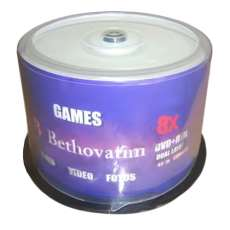 Dvd+r DL 8,5gb printable Bethovatim - R$ 1,94