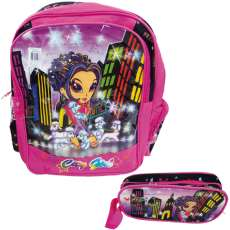 Mochila escolar city girl + estojo - R$ 26,18
