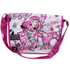 Bolsa de ombro rock and roll Rosa - R$ 24,68