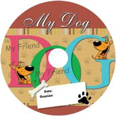 Etiqueta PET cd dvd offset my dog  - R$ 2,70